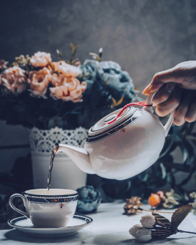 Tea being poured